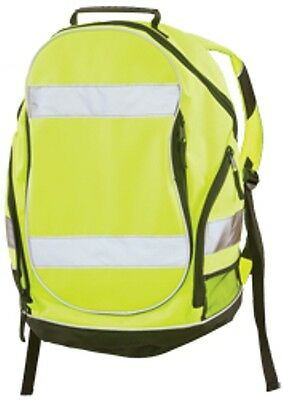 New Erb Safety 29003 Bp1 Hiviz Lime/yellow  Back Pack Can Fit Hardhat Fast Ship