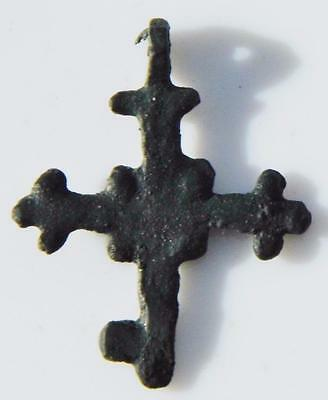Early Medieval Crusader Cross ca.1100 Norman Christian Fleury Crosslet Trefoil