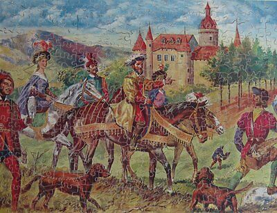 Vintage Victory Artistic Wooden Jigsaw Puzzle - 'Hunting With Falcon' (400 pcs)