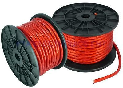 100FT 4GA 4AWG CCA Red Power Cable Wire Heat Resistance for Sound Car Audio AMP