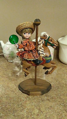 Wood BASE VERY UNIQUE Carousel Horse Display Decor Hand Carved Pedestal Horse