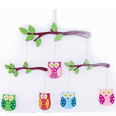 END OF YEAR CLEARANCE NEW Wooden Nursery Mobile OWL Design, BABY SHOWER GIFT!!