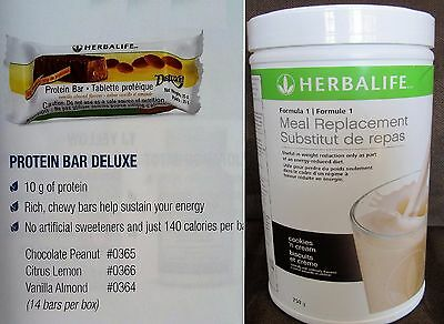 1 Herbalife Protein Shake 750 g & 14 Protein Bars - Delicious & Nutritious