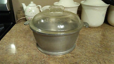 "Vintage Guardian Service Ware 12"" pan w/glass lid"