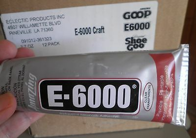 BIG tube E6000®  industrial craft jewelry glue USA made 109ml 3.7oz  WITH NOZZLE