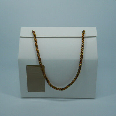Variety of Color / Size Kraft Paper with Clear Window Handle Box for Gift Pack