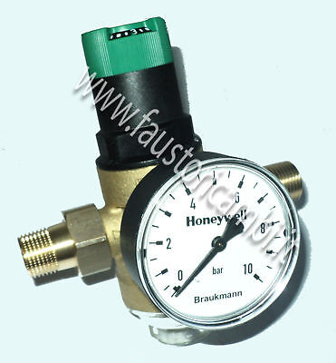 Reducer By Pressure Water Braukmann D06F-A Ø 1/2 Pressure Gauge Filter Honeywell