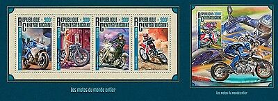 Z08 IMPERFORATED CA16213ab CENTRAL AFRICA 2016 Motorcycles MNH Set