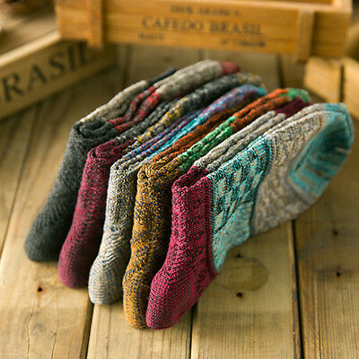 Casual Cotton Soft Thick Socks Design Multi-Color Fashion Dress Men Women Socks
