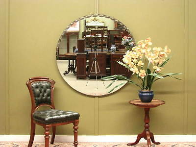 LARGE ROUND ART DECO STYLE WALL OVERMANTLE MIRROR ~ SUIT ANTIQUES / MODERN c1960
