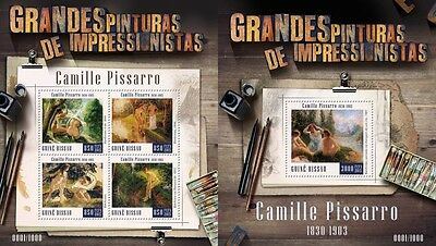Z08 IMPERFORATED GB15808ab GUINEA-BISSAU 2015 Camille Pissaro MNH Set