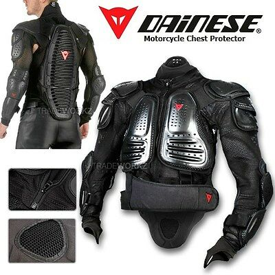 New DAINESE D1 Air Light Wave Motorcycle Black Jacket Body Armor Chest Protector