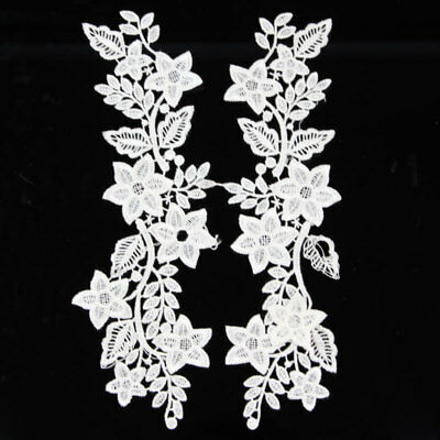 Mirror Pair Lace Applique DIY Crochet Embroidery Sewing Trim Craft for Wedding