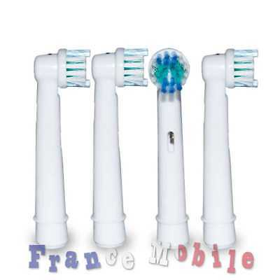 4x Tetes Brossettes Rechange Remplacement Brosses Dents Braun Oral B Vitality