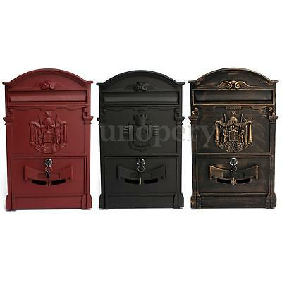 Postbox Letterbox Lockable Secure Wall Mounted Mail Letter Post Box Outdoor New