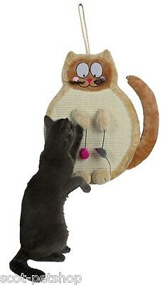 Cat Shaped Cat And Kitten Sisal Wall Hanging Scratching Pad 43118