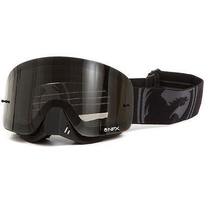 NEW Dragon NFX Murdered Black Smoke MX Frameless Ion Tinted Motocross Goggles