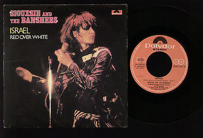 "7"" Siouxsie & Banshees Israel / Red Over White Italy 1980 Near Mint Condition!!!"
