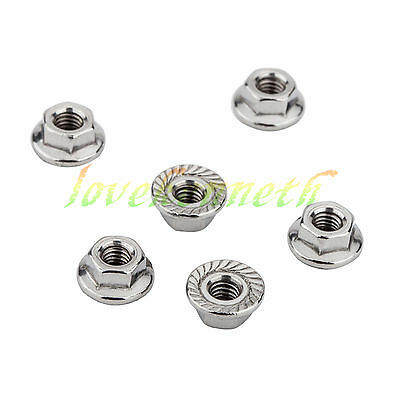 10/50/100 pcs Stainless Steel Hex Flange Nut Hexagon Nuts M3 M4 M5 M6 M8 M10 M12