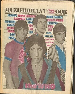 OOR 1974 23 The WHO Roxy Music CAN Herbie Hancock CATAPULT Carole King SPARKS