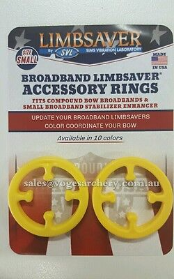 LimbSaver Broadband Rings 2 Pack Bands Superior Vibration Dampener Yellow