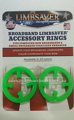 LimbSaver Broadband Rings 2 Pack Bands Superior Vibration Dampener Flo Green