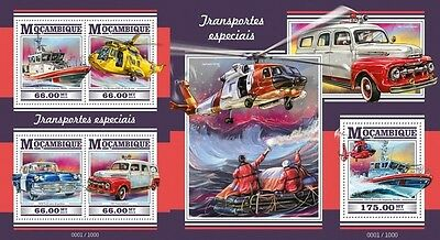 Z08 Imperforated MOZ15327ab MOZAMBIQUE 2015 Special transport MNH Set