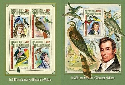 Z08 IMPERFORATED CA16314ab CENTRAL AFRICA 2016 Alexander Wilson MNH Set
