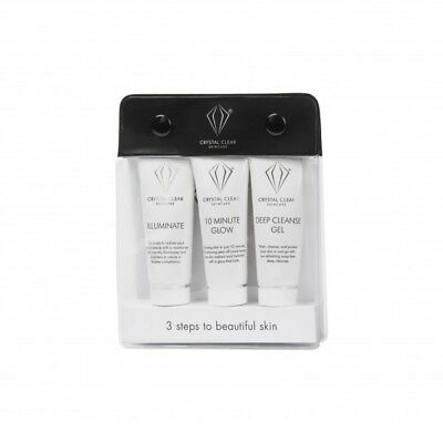 Crystal Clear Travel Pack Deep Cleanse Gel 10 Minute Glow Illuminate Ready Set
