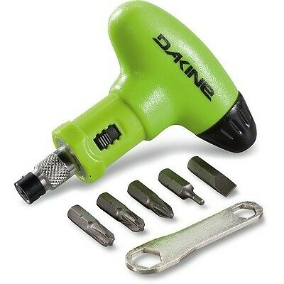 Dakine Snowboarding Torque Screw Driver Set Repair Green Service  Wrench 2300200