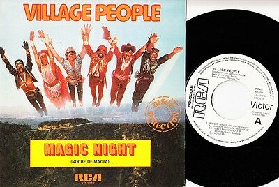 "VILLAGE PEOPLE - Noche de magia - r@re Spanish 7"" single 45 Spain 1981 PROMO"