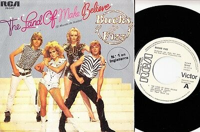 "BUCKS FIZZ - El Mundo de ilusion ultr@r@re Spanish PROMO 7"" single 45 Spain 1982"