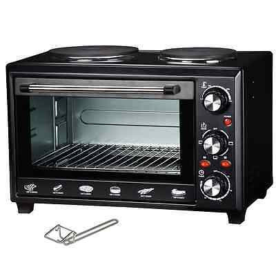Maxim MOHP28 Portable Electric Convection Oven/Hot Plate Compact Cooktop 28L