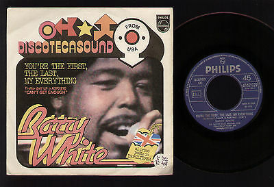 "7"" Barry White You're The First... / More Than Anything... Italy 1975 Soul Funk"