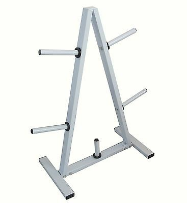 "5 Pole Holder Gym Standard Weight 1"" Plate Disc Barbell Stand Tree Storage Rack"