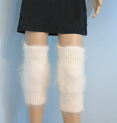 Cashmere Mohair Angora Gaiters Knee Warmer Socks Fur Socken fetish sexy