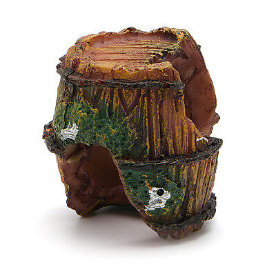 Aquarium Barrel Ornament Fish Tank Resin Cave Landscaping Furnishing Decoration
