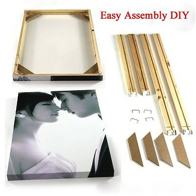 DIY Wood Bar Frame For Canvas Painting Art Stretcher Strip for Gallery Wrapped