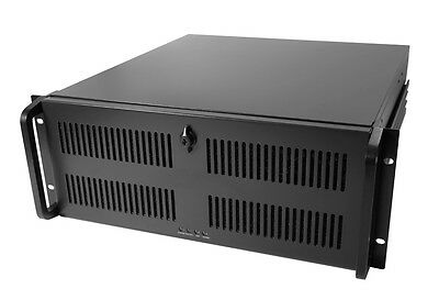 Codegen 4U Rack Mount 600MM Deep Black Rackmount Server Case