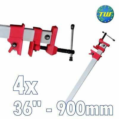"4x 36"" Sash Clamp Lightweight Aluminium Body + Quick Release 900mm 90cm Cramps"