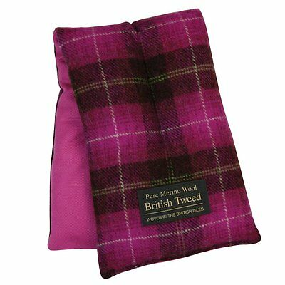 Aroma Home Soothing Luxury Pink Plaid Tweed Merino Comforting Wool Body Wrap