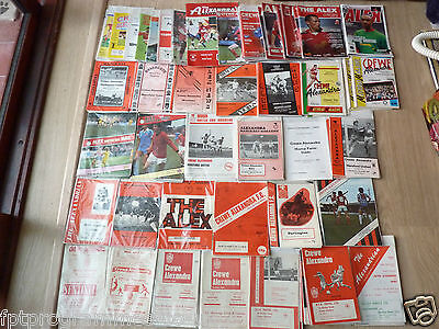 Crewe Alexandra  Home Programmes 1960/61 to 2009/10    Select yours from list
