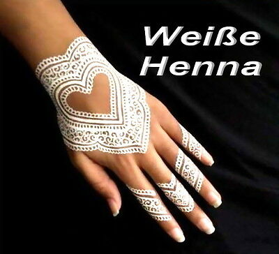 White Henna Paste Weiß Kegel in Tube 25g Indien *Henna Tattoo Kina Stift Mehndi*