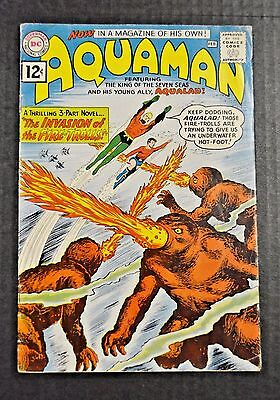 Silver Age Aquaman (1962) Volume #1 Key Issue Intro. Of Quisp Dc Comics Vg/fine