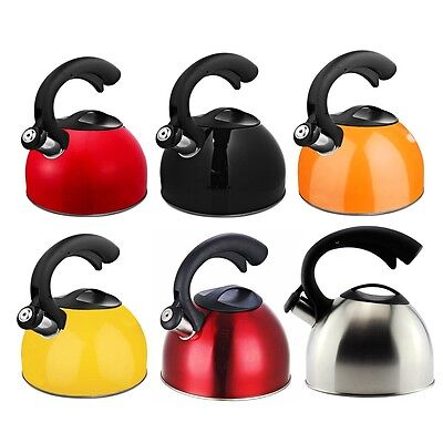 Stainless Steel Whistling Tea Kettle Encapsulated Maker Pot Stovetop Induction