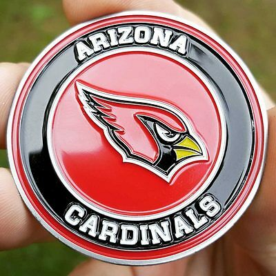 PREMIUM NFL Arizona Cardinals Poker Chip Card Protector Golf Marker Coin NEW