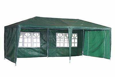 Waterproof Green 3m x 6m Outdoor Garden Gazebo Party Tent Marquee Awning Canopy