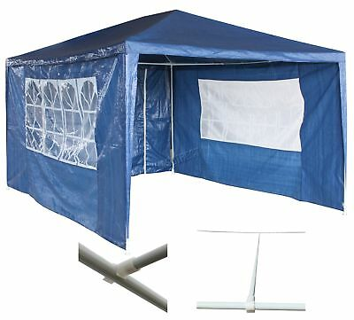 Waterproof Blue 3m x 4m Outdoor Garden Gazebo Party Tent Marquee Awning Canopy