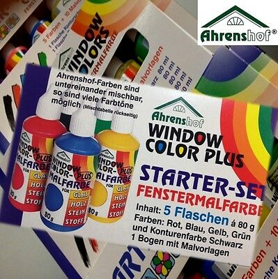 Window Color Starter-Set Ahrenshof 5 Farben + Malvorlagen