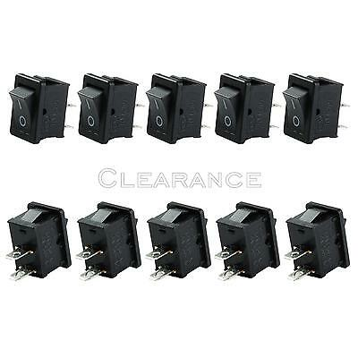 Mini Rocker Switch ON-OFF 2-Pin Plastic Button 250V 6A /125V 10Amp 10pcs